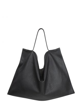 NATHAN shoulder bag in black calfskin leather | TSATSAS