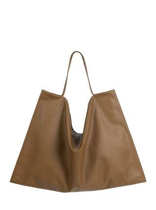 NATHAN shoulder bag in olive brown calfskin leather | TSATSAS
