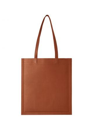 STRATO shoulder bag in tan lamb nappa leather | TSATSAS