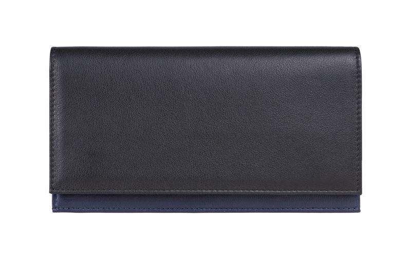 CREAM TYPE 10 wallet in black calfskin leather | TSATSAS
