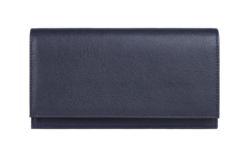 CREAM TYPE 10 wallet in navy calfskin leather | TSATSAS