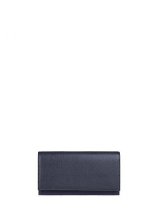 CREAM TYPE 10 wallet in navy calfskin leather | TSATSAS