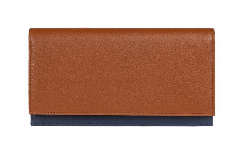 CREAM TYPE 10 wallet in tan calfskin leather | TSATSAS