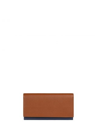 CREAM TYPE 10 wallet in tan calfskin leather | TSATSAS