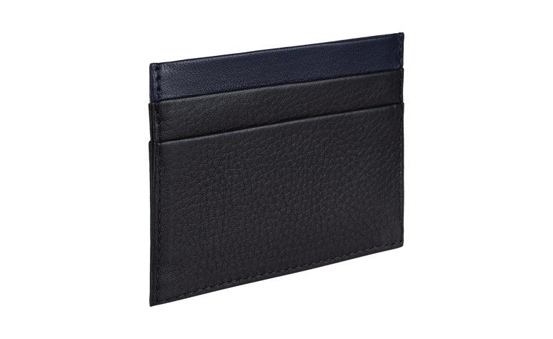 CREAM TYPE 1 card holder in black calfskin leather | TSATSAS