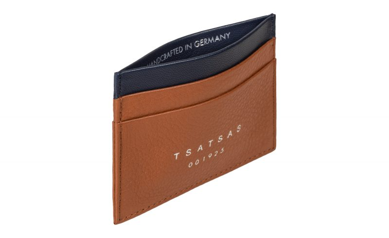 CREAM TYPE 1 card holder in tan calfskin leather | TSATSAS