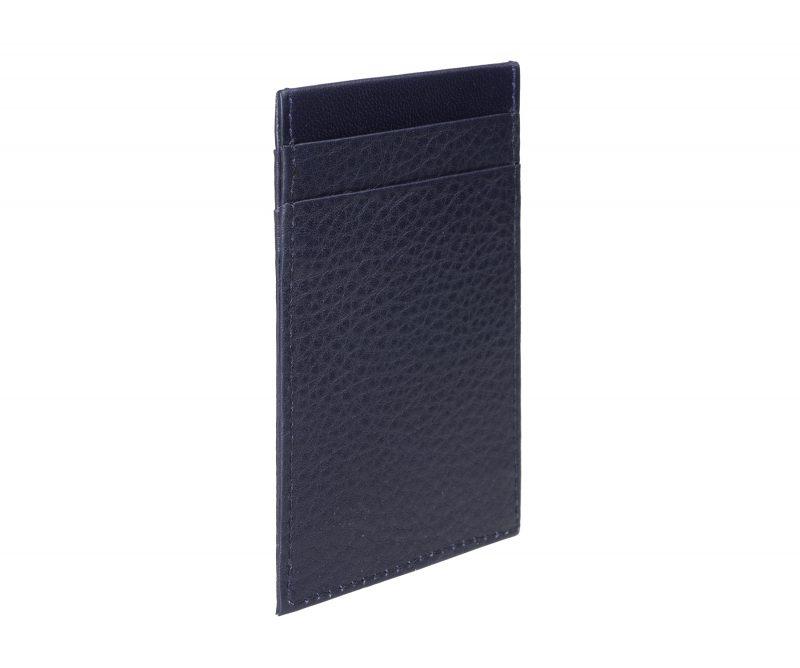 CREAM TYPE 2 card holder in navy calfskin leather | TSATSAS