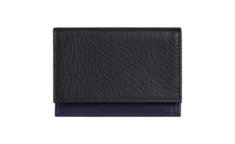 CREAM TYPE 3 coin wallet in black calfskin leather | TSATSAS