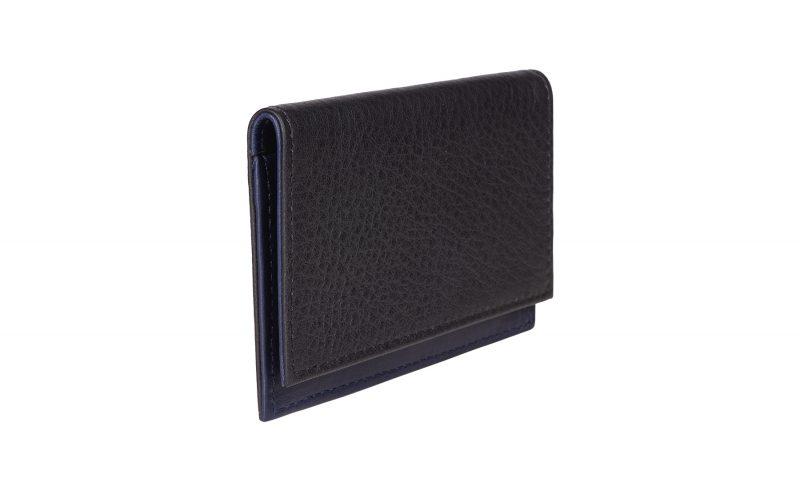 CREAM TYPE 4 business card case in burgundy calfskin leather   TSATSAS