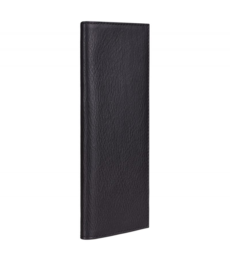 CREAM TYPE 9 wallet in black calfskin leather | TSATSAS