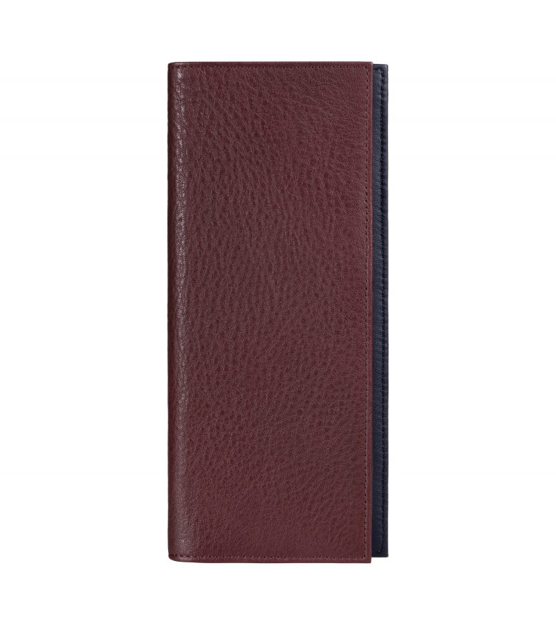 CREAM TYPE 9 wallet in burgundy calfskin leather | TSATSAS