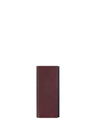 CREAM TYPE 9 wallet in burgundy calfskin leather | TSATSAS