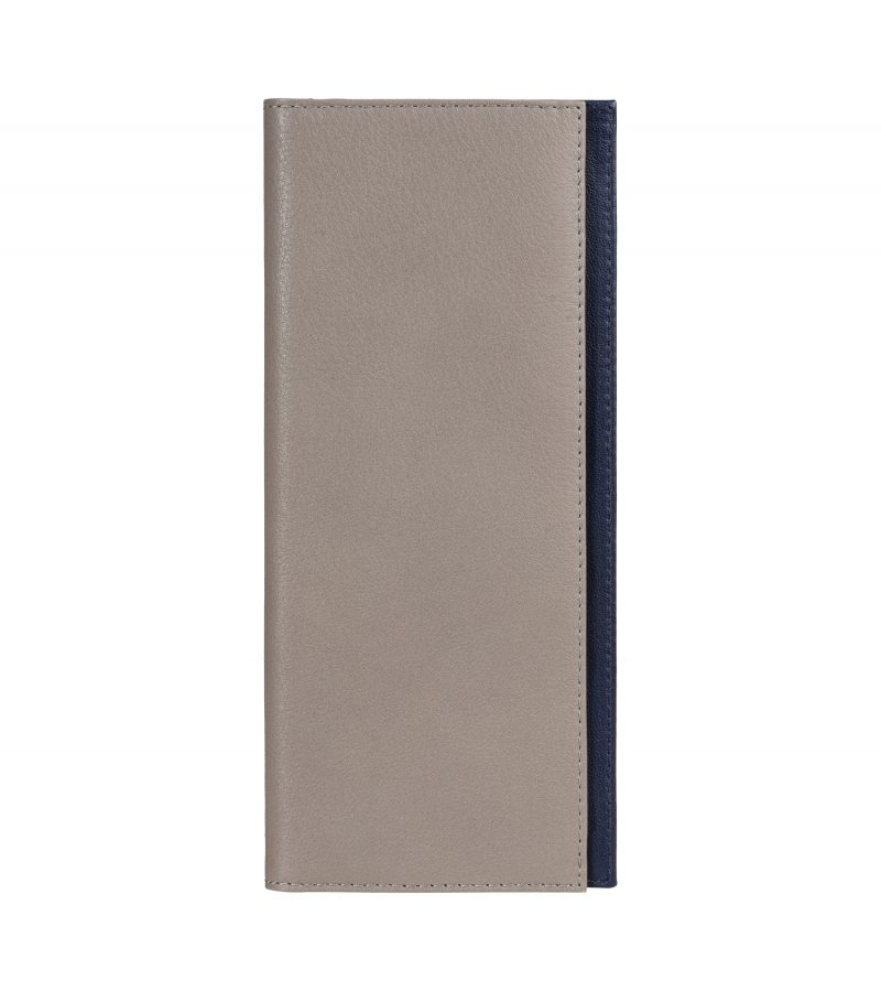 CREAM TYPE 9 wallet in grey calfskin leather | TSATSAS