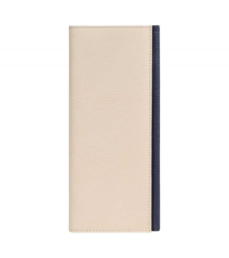 CREAM TYPE 9 wallet in ivory calfskin leather | TSATSAS