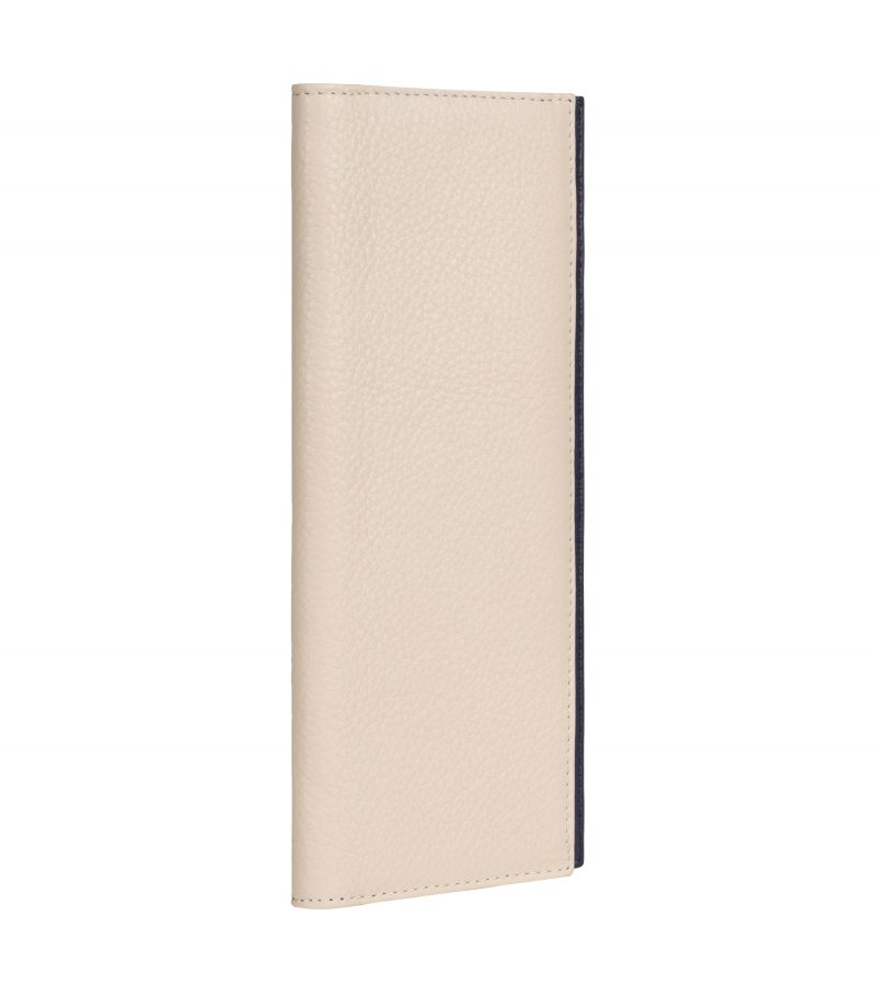 CREAM TYPE 9 wallet in ivory calfskin leather | TSATSAS