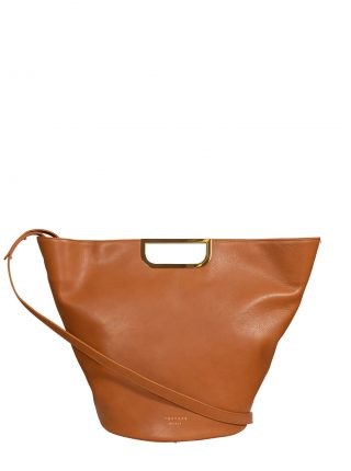 ANOUK tote bag in tan calfskin leather | TSATSAS
