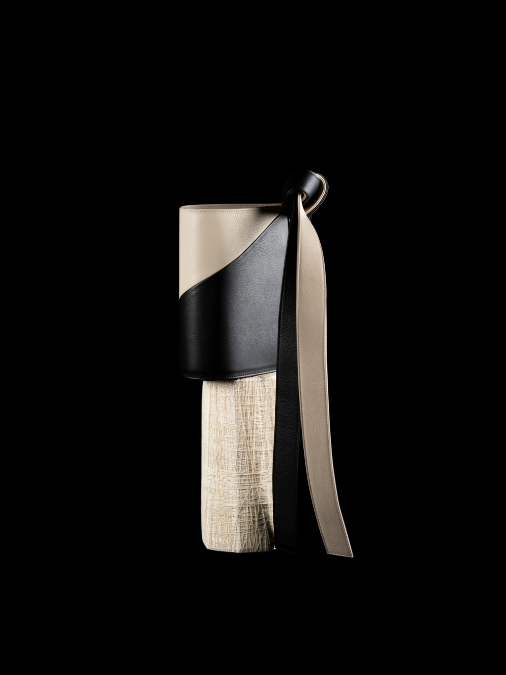 CHIAROSCURO by Dimitrios Tsatsas — TAPE XS bicolour clutch bag | TSATSAS