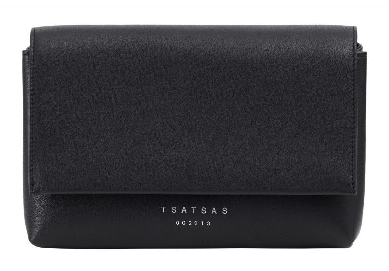SOMA belt bag in black calfskin leather | TSATSAS