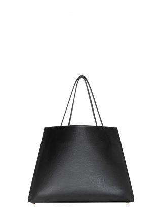 ANNEX tote bag in black calfskin leather | TSATSAS