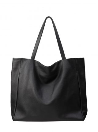 FABER 1 shoulder bag in black calfskin leather | TSATSAS