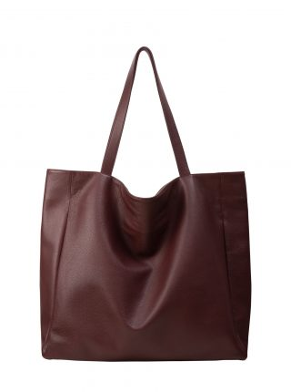 FABER 1 shoulder bag in burgundy calfskin leather | TSATSAS