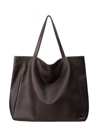 FABER 1 shoulder bag in dark brown calfskin leather | TSATSAS