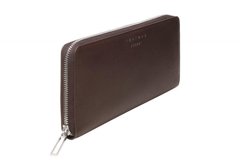 KOBO 2 wallet in dark brown calfskin leather | TSATSAS