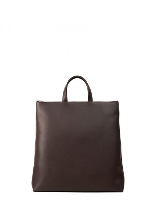 LUCID tote bag in dark brown calfskin leather | TSATSAS