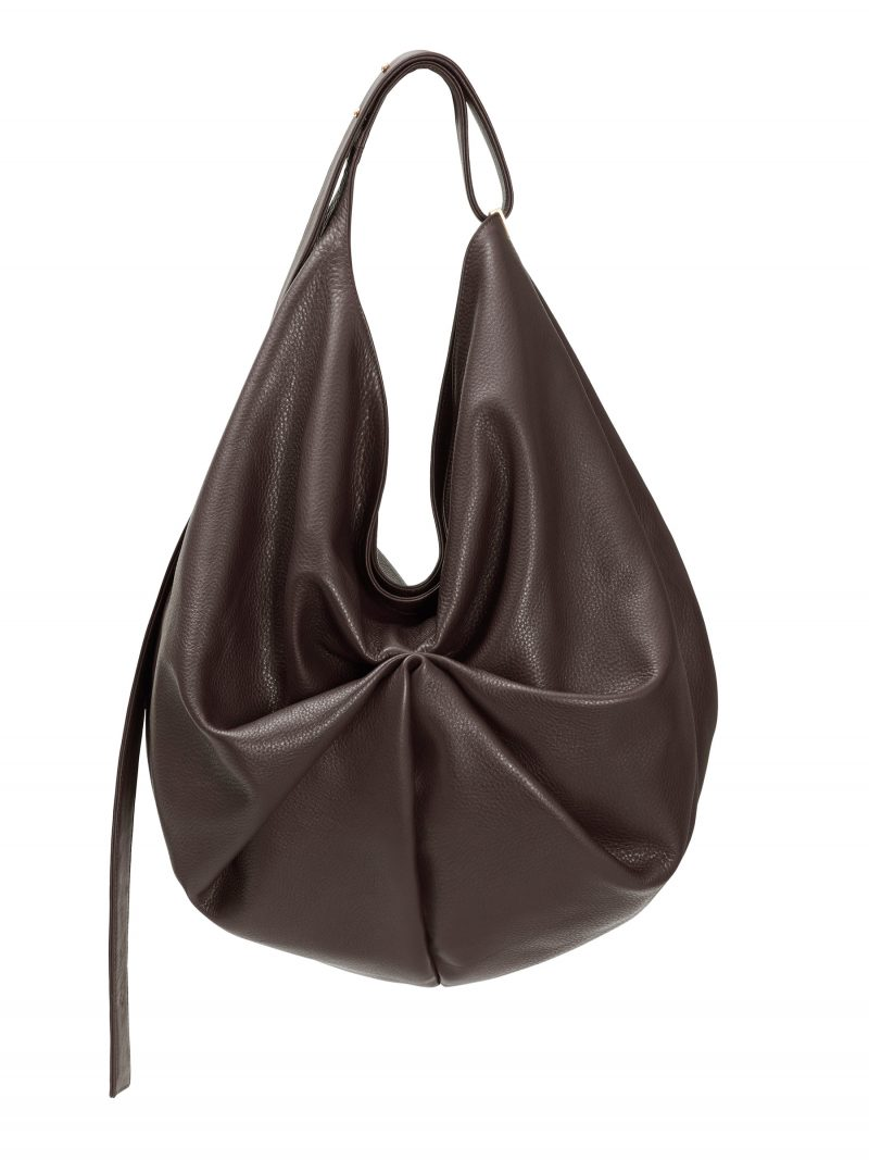 SACAR shoulder bag in dark brown calfskin leather | TSATSAS