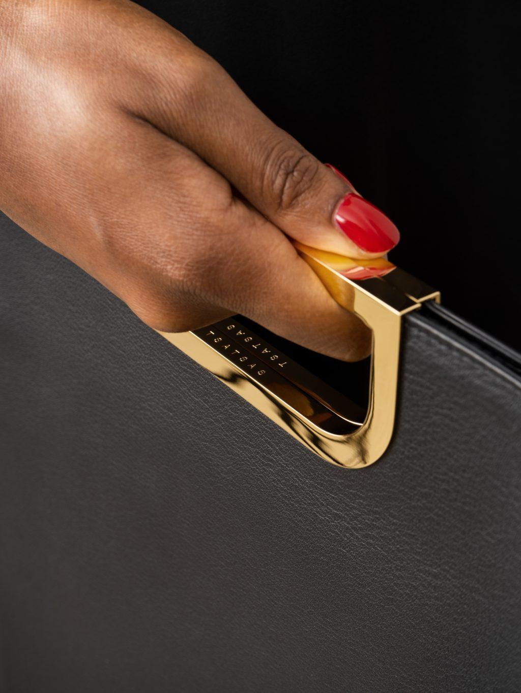 SOODEN handbag in black calfskin leather | TSATSAS