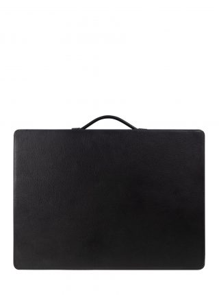 SUIT-CASE — suitcase in black calfskin leather | TSATSAS