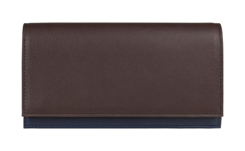 CREAM TYPE 10 wallet in dark brown calfskin leather | TSATSAS