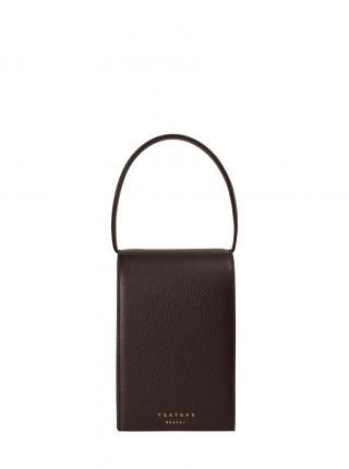 MALVA 3 hand bag in dark brown calfskin leather | TSATSAS
