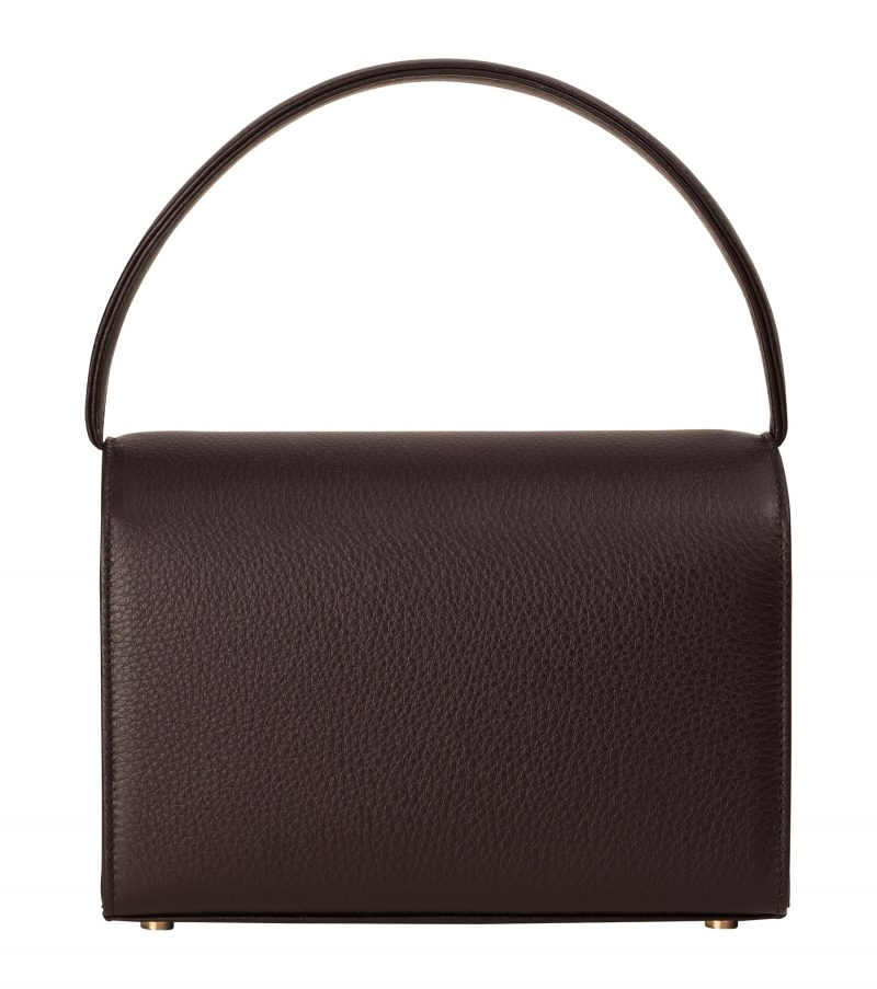MALVA 4 hand bag in dark brown calfskin leather | TSATSAS