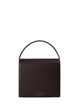 MALVA 5 hand bag in dark brown calfskin leather | TSATSAS