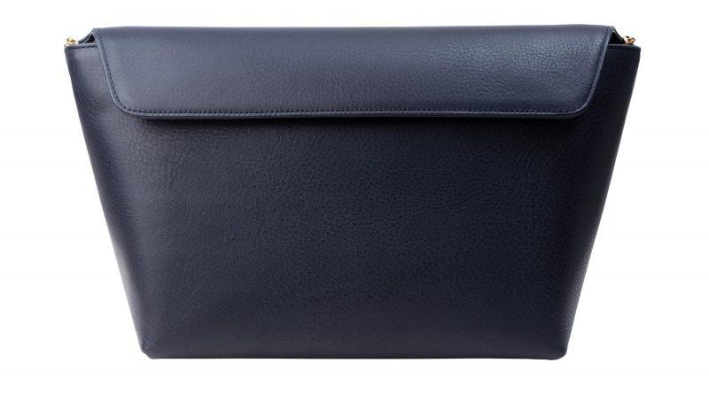 OLIVE L shoulder bag in navy calfskin leather | TSATSAS