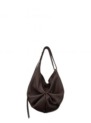 SACAR S shoulder bag in dark brown calfskin leather | TSATSAS