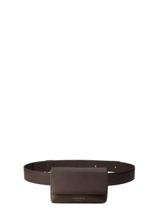 SOMA belt bag in dark brown calfskin leather | TSATSAS
