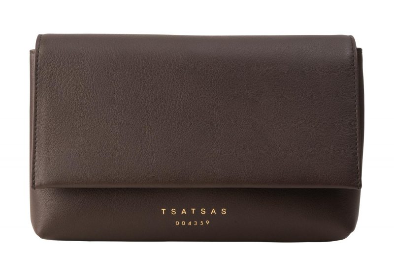 SOMA belt bag in dark brown calfskin leather | TSATSAS