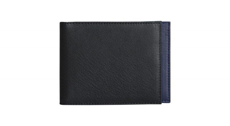 CREAM TYPE 5 wallet in black calfskin leather | TSATSAS
