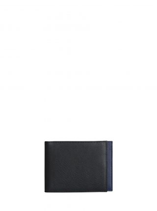CREAM TYPE 5 wallet in black calfskin leather | TSATSAS
