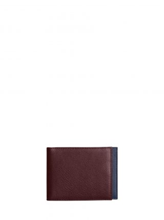 CREAM TYPE 5 wallet in burgundy calfskin leather | TSATSAS