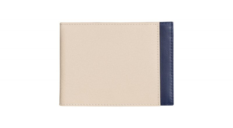 CREAM TYPE 5 wallet in ivory calfskin leather | TSATSAS