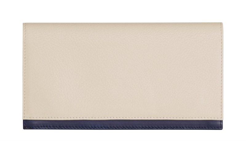 CREAM TYPE 10 wallet in ivory calfskin leather | TSATSAS