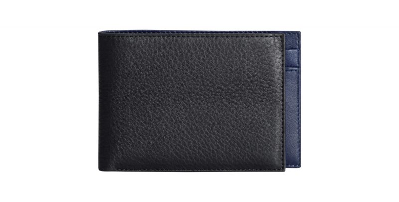 CREAM TYPE 6 wallet in black calfskin leather | TSATSAS