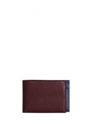 CREAM TYPE 6 wallet in burgundy calfskin leather | TSATSAS