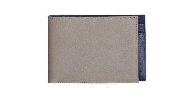 CREAM TYPE 6 wallet in grey calfskin leather | TSATSAS