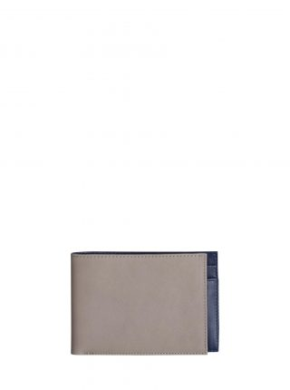 CREAM TYPE 6 wallet in grey calfskin leather | TSATSAS