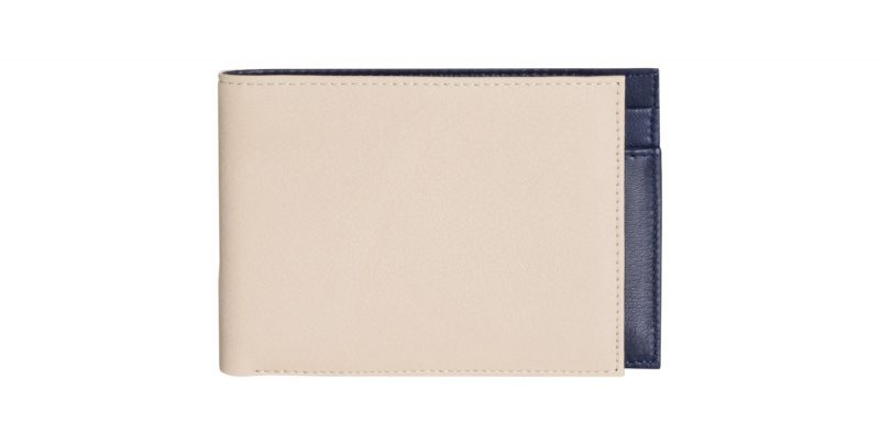 CREAM TYPE 6 wallet in ivory calfskin leather | TSATSAS