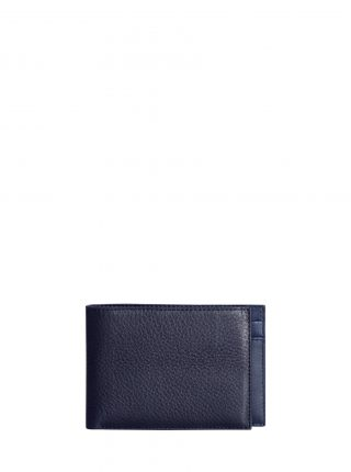 CREAM TYPE 6 wallet in navy calfskin leather | TSATSAS